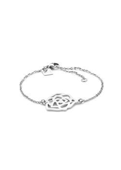 armband in edelstaal, open bloem