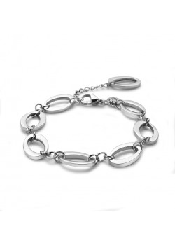 armband in edelstaal, open ovalen