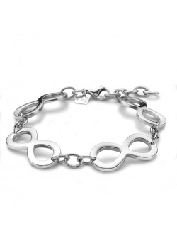 armband in edelstaal, 4 infinities