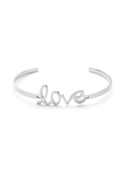 rigide armband in edelstaal, love
