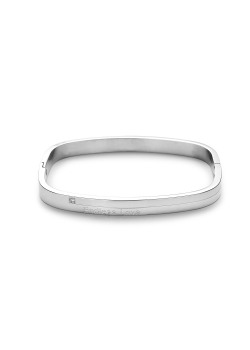 stainless steel bracelet, rectangular model, crystal and Endless Love