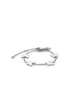 Bracelet en acier, motif papillons