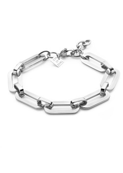 Armband in edelstaal, ovalen