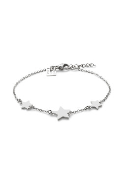 Armband in edelstaal, 3 sterretjes