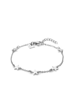 Stainless steel bracelet, 5 little stars