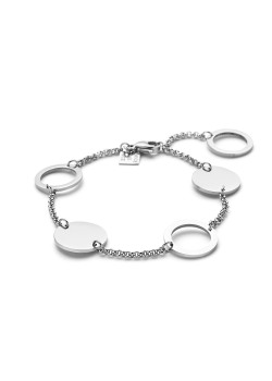Stainless steel bracelet, circles and rounds