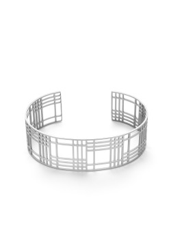 Armband in edelstaal, geometrisch
