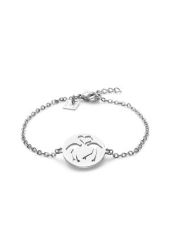 Armband in edelstaal, flamingo