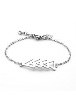 Armband in edelstaal, 4 driehoeken