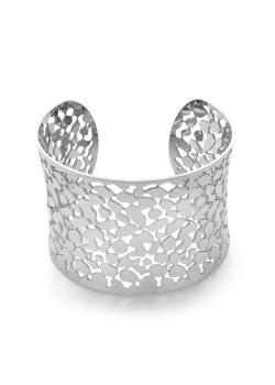 Bracelet en acier poli, rigide