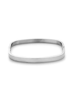 Stijve armband in edelstaal, rechthoekig model