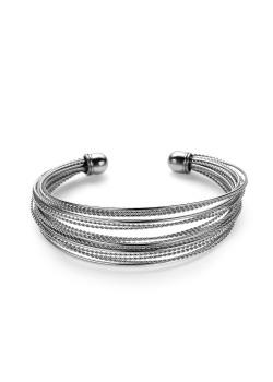 Armband in edelstaal, 20 rijen