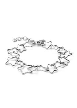 Armband in edelstaal, sterren