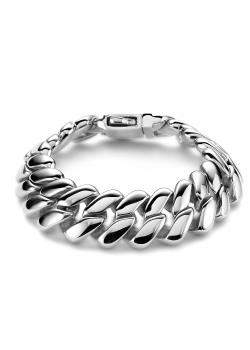 bracelet en acier poli
