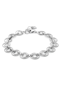 armband in zilver, cirkels