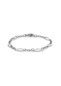 Armband in zilver, open ellipsen