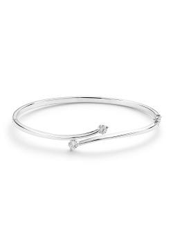 Rigide armband in zilver, 2 zirkonia