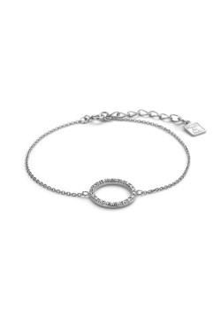 armband in zilver, cirkel van 14 mm, zirkonia