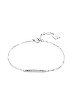 Armband in zilver, staafje, wit