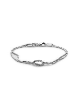 Silver bracelet, knot in the middle