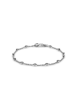 Silver bracelet with small beads