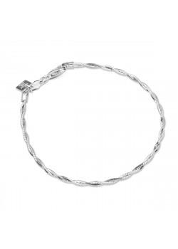 Gevlochten armband in zilver