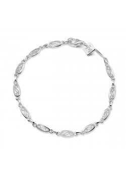 Armband in zilver, ovale schakels