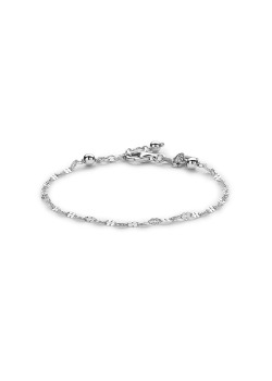 Armband in zilver, klavertjes