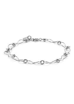 Armband in zilver, infinity schakels