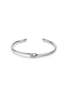 open bangle in zilver, knoop motief