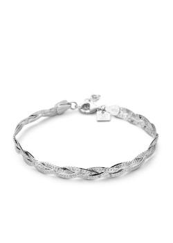 armband in zilver, vlecht