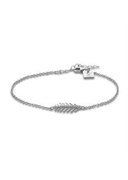 Armband in zilver, pluim, rij in zirkonia