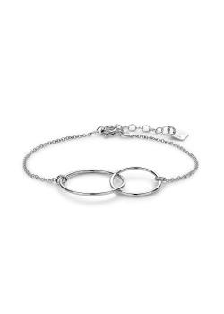 Silver bracelet, double circle