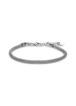 Armband in zilver, gevlochten in 3D