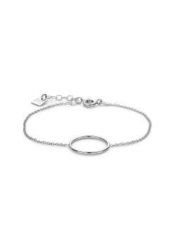 Silver bracelet, 16 mm circle