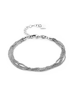 Armband in zilver, 4 kettinkjes