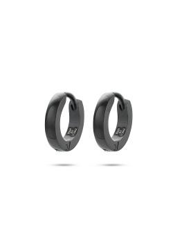 black stainless steel hoop earrings