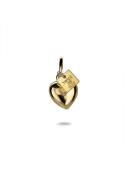 18ct gold plated silver pendant, heart