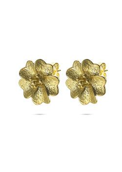 High fashion Oorbellen, bloem in goudkleur