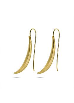 High fashion Oorbellen, banaan in gekrast goudkleur