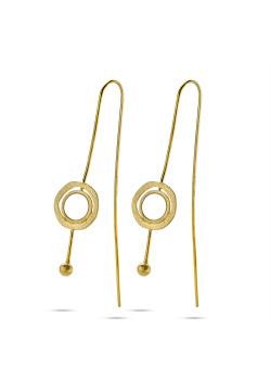 High fashion Oorbellen, goudkleurige ronde, parelmoer