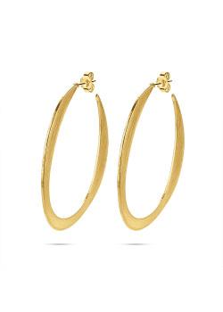 High fashion Oorbellen, gekraste goudkleurige creool, 5 cm