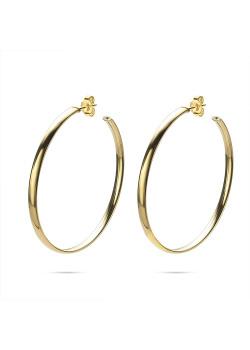 Boucles d'oreilles en plaqué or 18ct, anneaux 53 mm