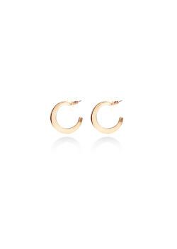 high fashion creolen, plat model, 25 mm, goudkleur