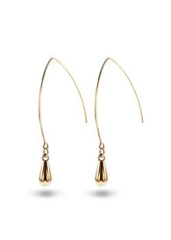 high fashion oorbellen, druppel motief, goudkleur