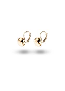High fashion oorbellen, bol motief, goudkleur
