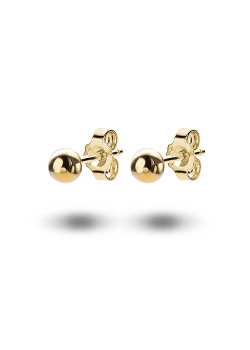18ct gold plated earrings, 5 mm ball