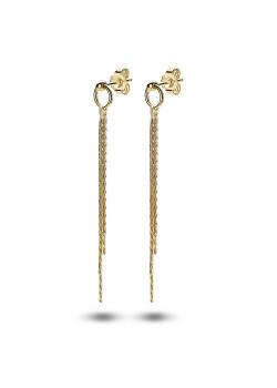 oorbellen in 18kt plaqué goud, floche