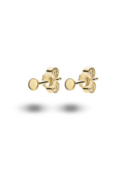 18ct gold plated silver earrings, 3 mm round
