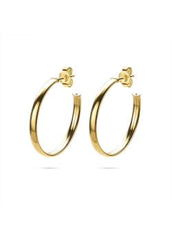 Boucles d'oreilles en plaqué or 18ct, anneaux 33 mm